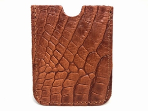 card alligator cognac
